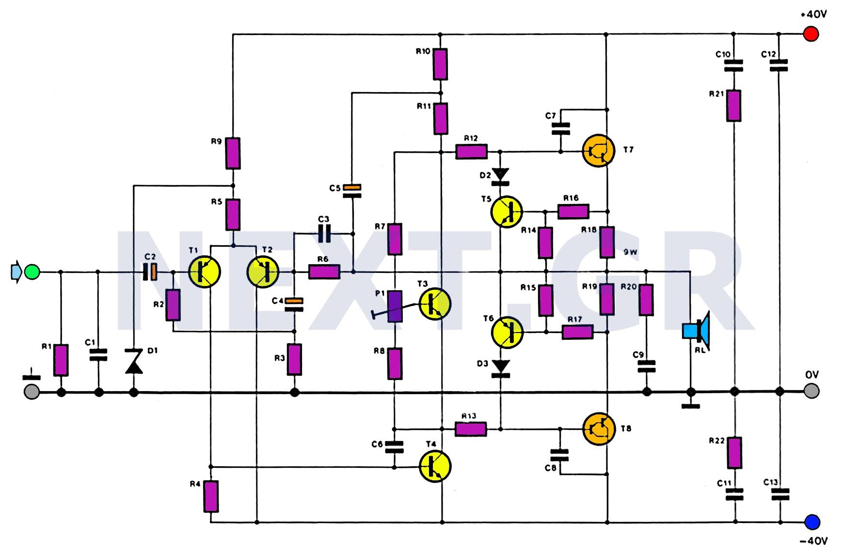 Tda 2040 25w Audio Amp Schematic Ev 7063] Hifi Audio Amplifier Circuit Based Tda2050 Audio Of Tda 2040 25w Audio Amp Schematic