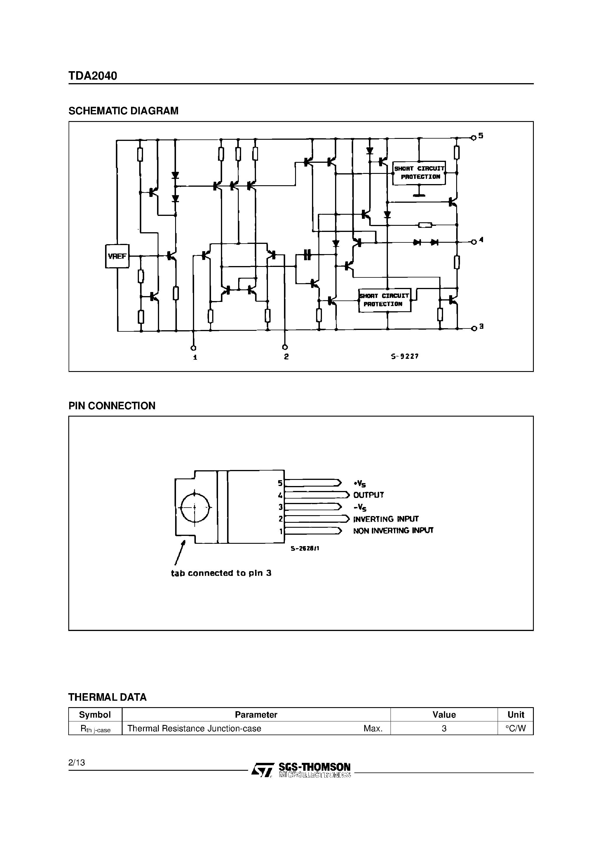 Tda 2040 Stereo Schematic Nx 7264] 20w Hifi Power Amplifier Using Tda2040 Circuit Of Tda 2040 Stereo Schematic