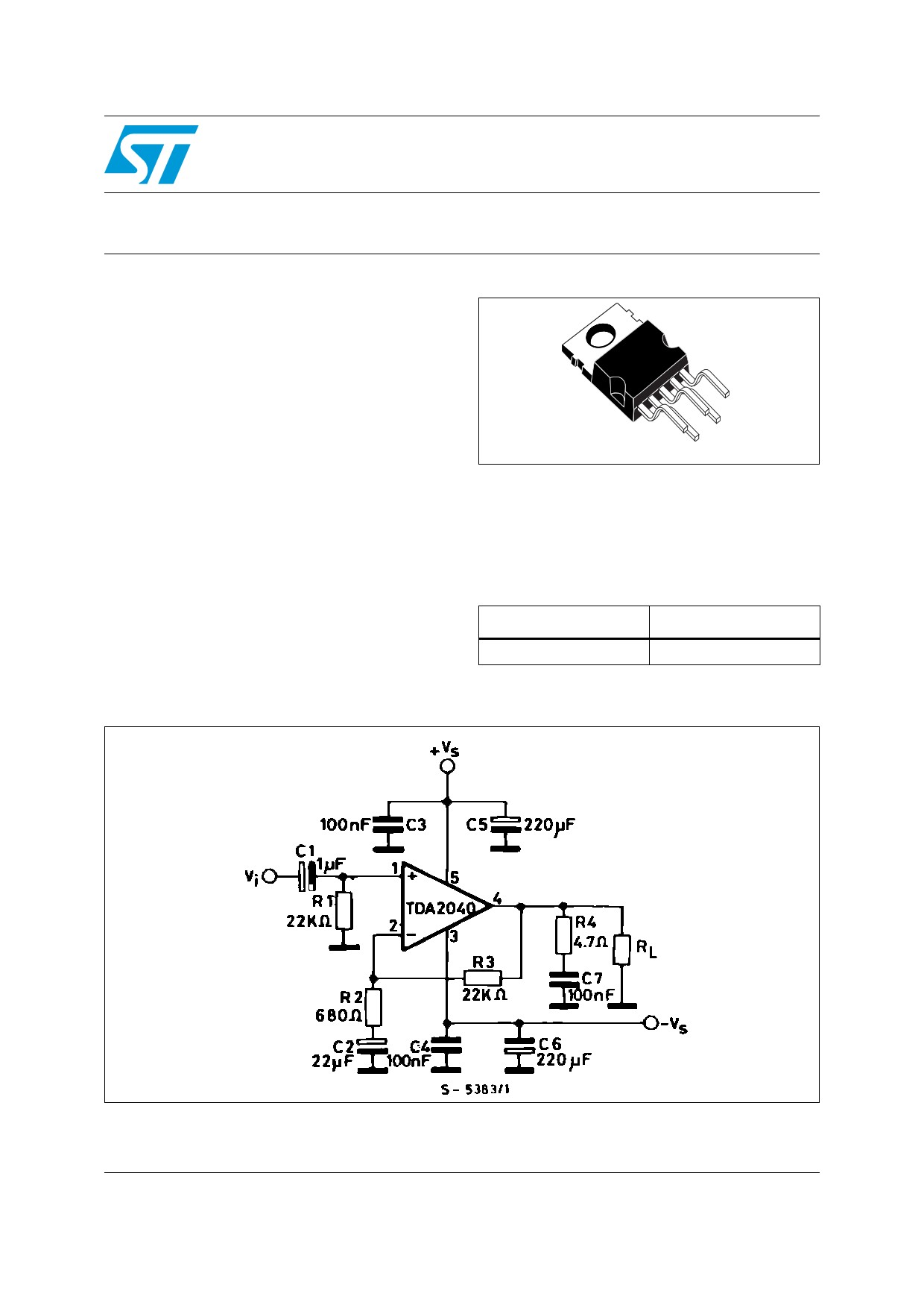Tda 2040 Stereo Schematic Tda2040 Amplifier Datasheet Pdf Power Amplifier Of Tda 2040 Stereo Schematic