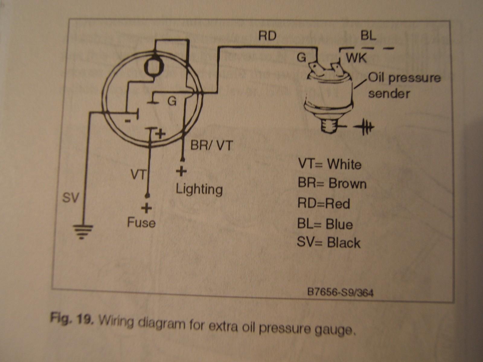 Vdo Oil Pressure Gauge Wiring Schematic