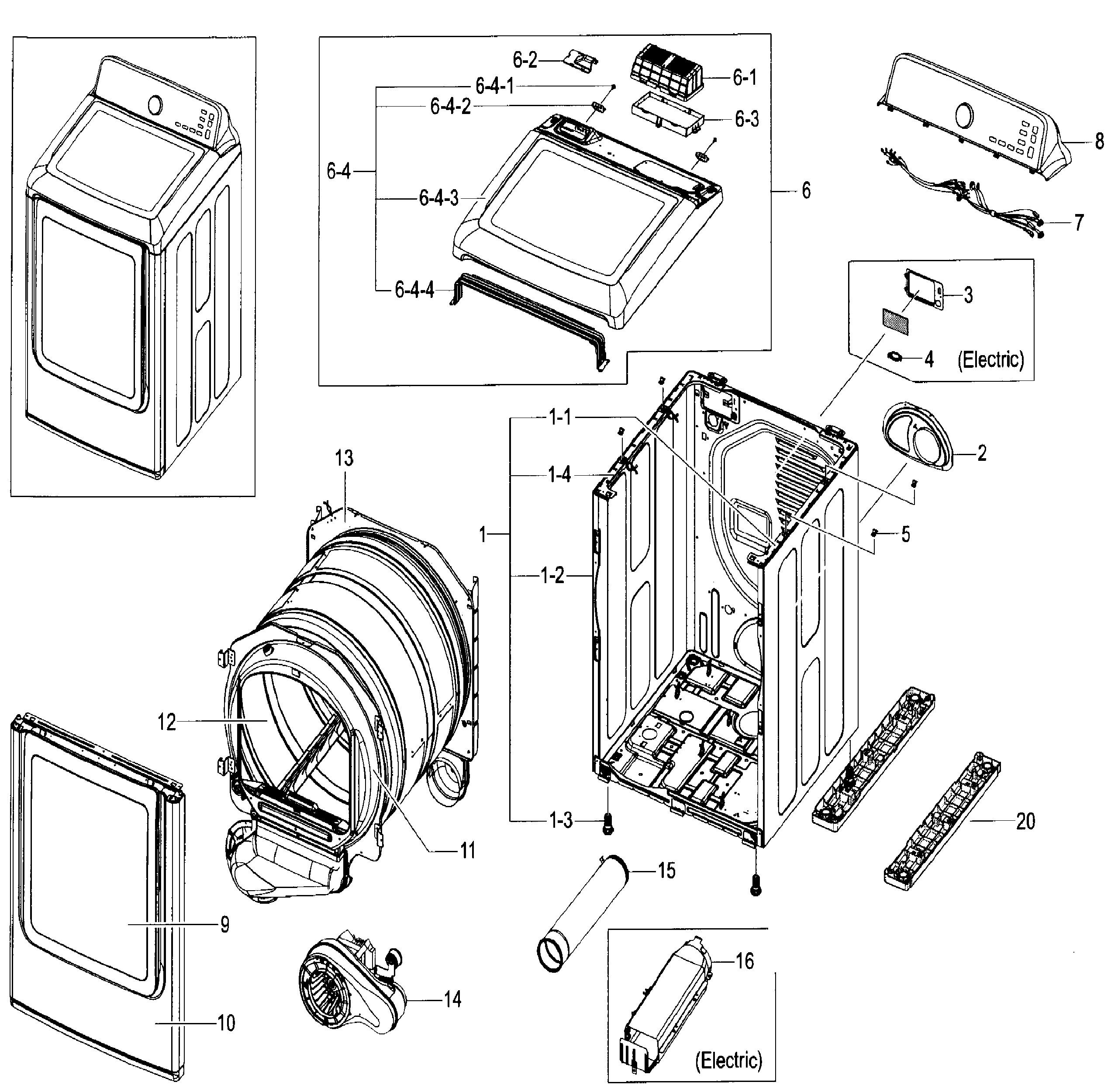Wire Diagram for Samsung Dryer Model Dve52m8650v/a3 Wiring Diagram for Samsung Dryer Heating Element Collection Of Wire Diagram for Samsung Dryer Model Dve52m8650v/a3