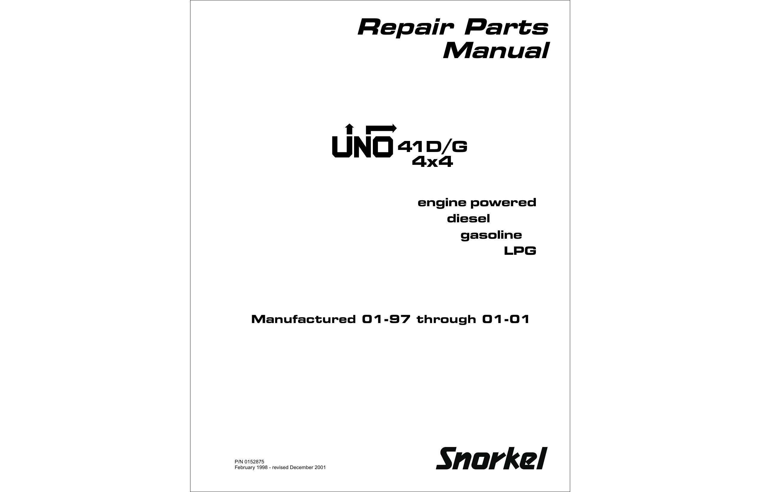 Wireing Diagram for A 1998 41 G Snorkl Man Lift Repair Parts Manual Of Wireing Diagram for A 1998 41 G Snorkl Man Lift