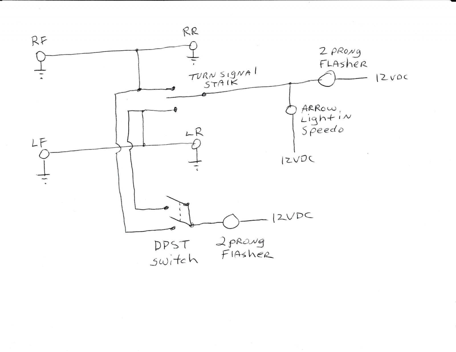 Wiring A 3 Prong Flasher thesamba Ghia View topic Emergency Hazard Of Wiring A 3 Prong Flasher