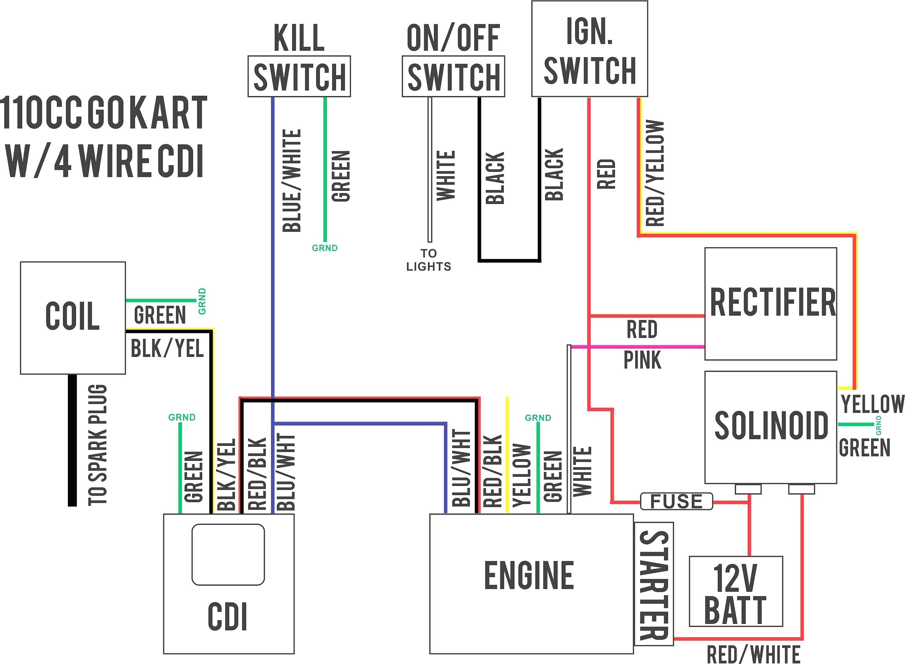 Wiring Diagram for A Chinese 110 atv Electrical Wiring Diagram Motorcycle with Images