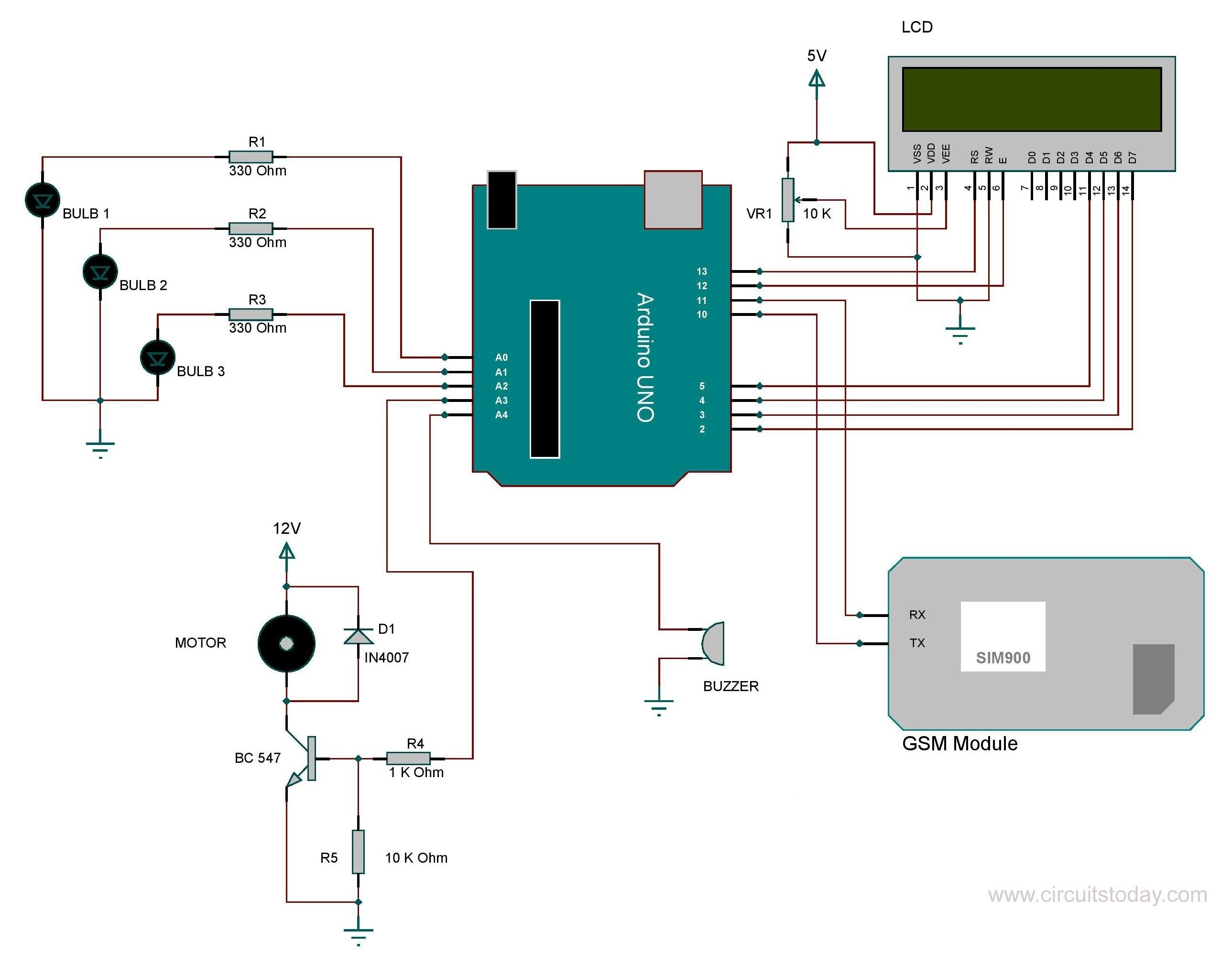 Wiring Schematic with Arduino Learn How to Do Home Automation Using Arduino and Gsm Module Of Wiring Schematic with Arduino