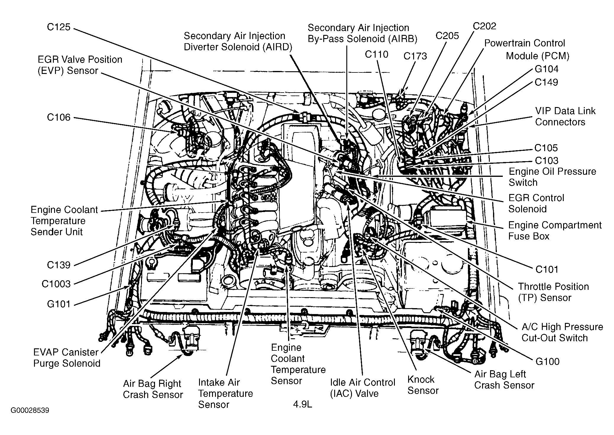 1986 ford F150 Under Hood Diagram ford F 150 Engine Diagram Exploded View Wiring Diagram Of 1986 ford F150 Under Hood Diagram