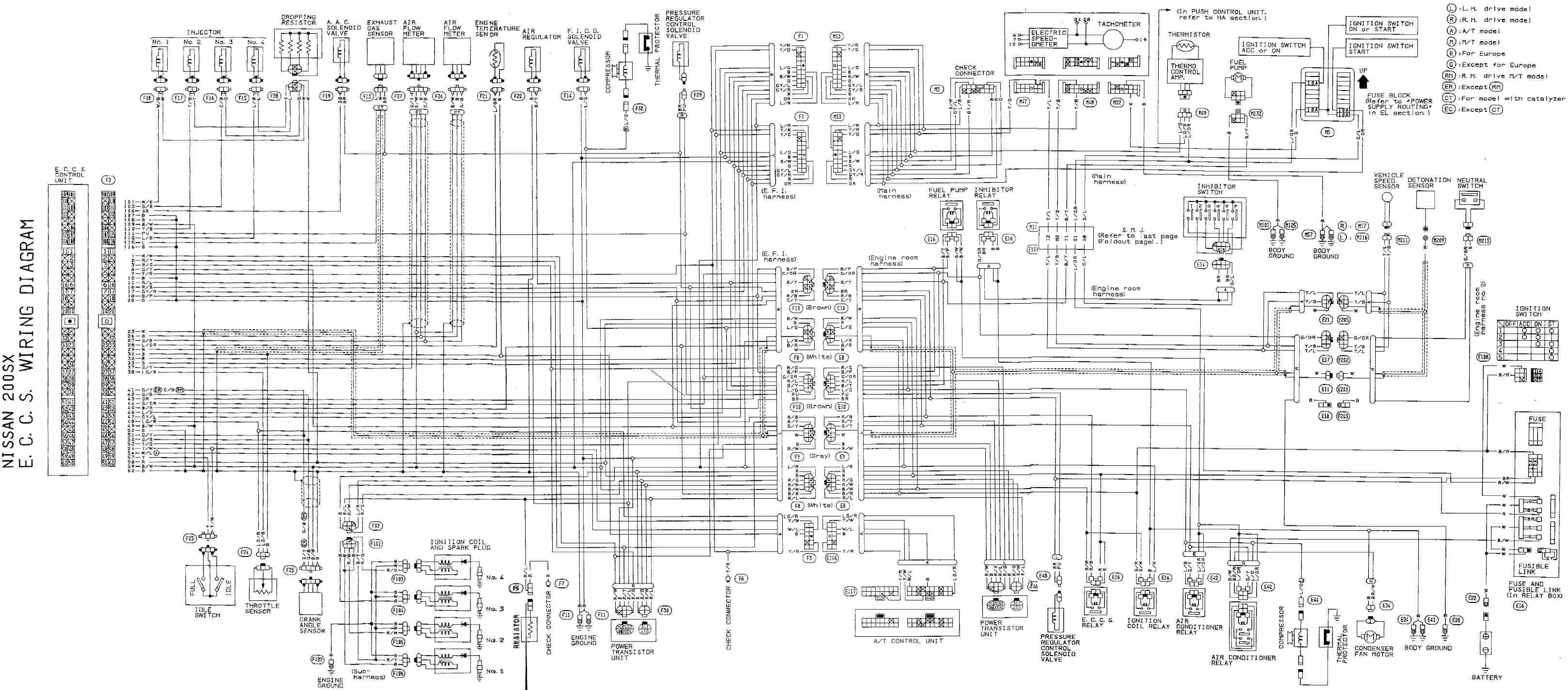 1990 Z32 Engine Harness Diagram Nissan Wiring Diagram Color Codes 2006 Honda Civic Stereo Of 1990 Z32 Engine Harness Diagram