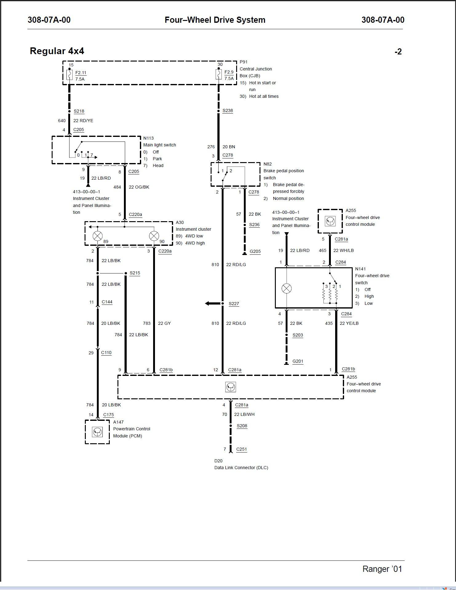 Ford Transfer Case Wiring Diagram Wiring Diagram Symbols