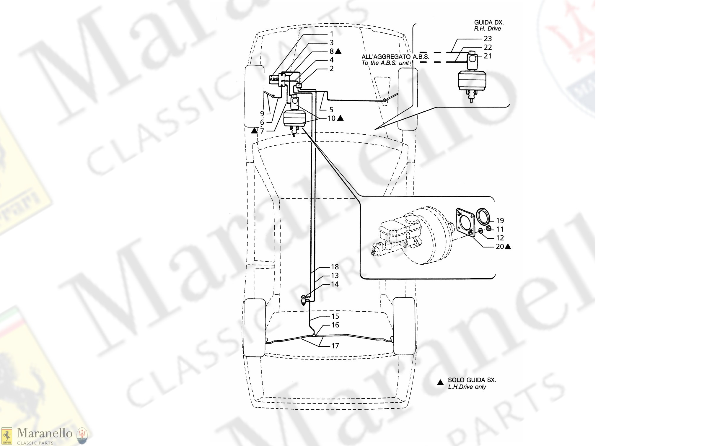 Abs System Diagrm 042 A B S Hydraulic Brake Lines Parts Diagram for Of Abs System Diagrm