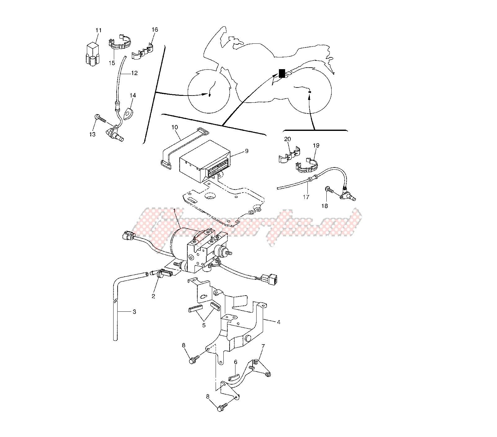 Abs System Diagrm Oem Anti Lock Brake System Yamaha [motorcycle] Fz6 Fazer Of Abs System Diagrm