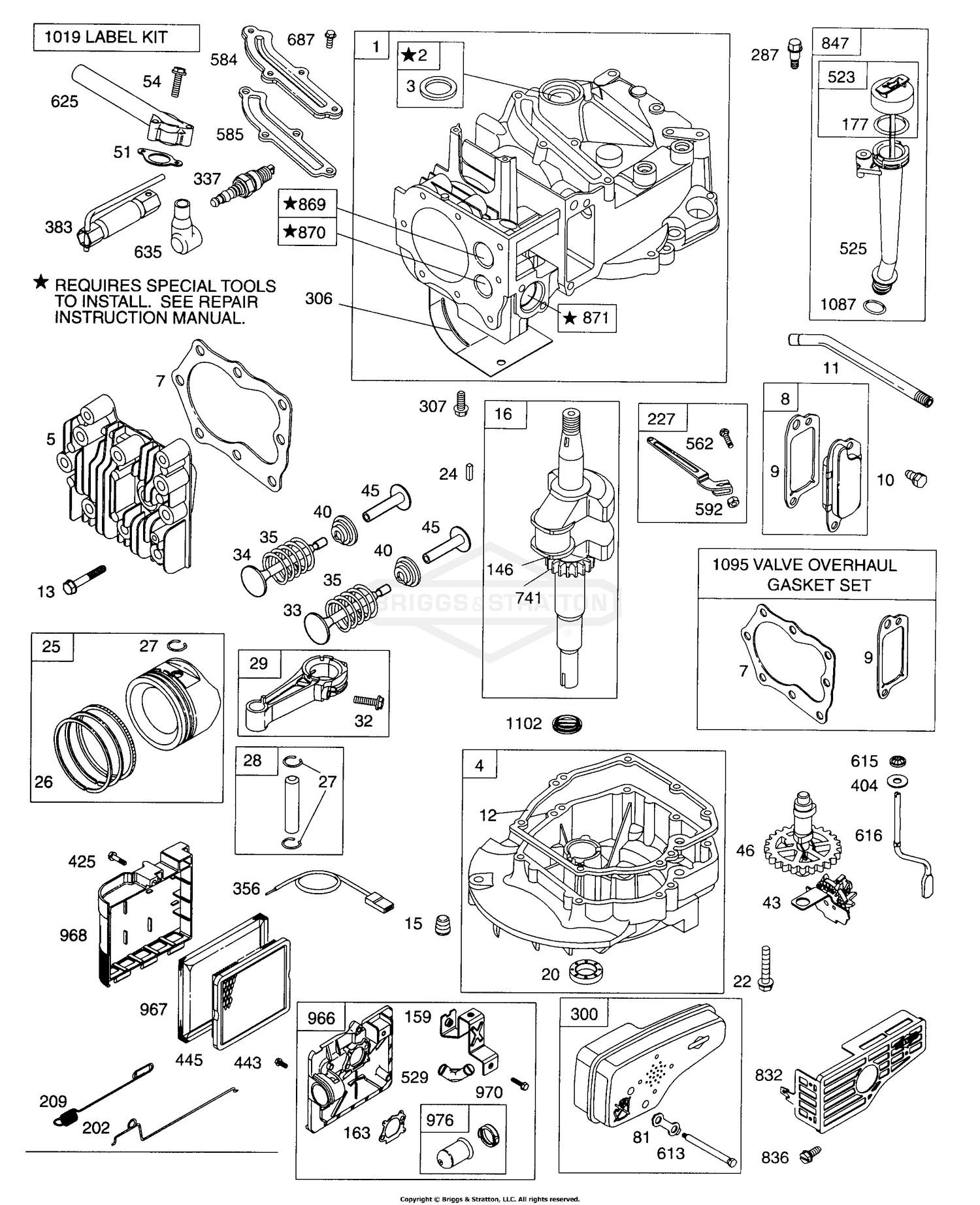Briggs and Stratton 19 Hp Diagram Briggs & Stratton Power Products Del 1282 Of Briggs and Stratton 19 Hp Diagram
