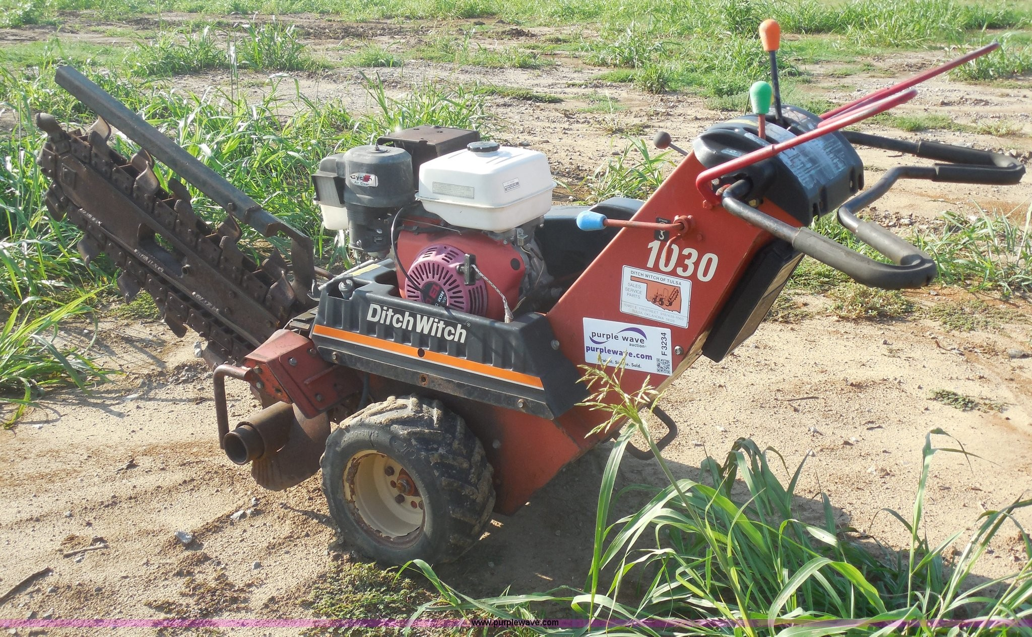 Ditch Witch 1030 Parts Breakdown 2000 Ditch Witch 1030 Walk Behind Trencher In Tulsa Ok Of Ditch Witch 1030 Parts Breakdown