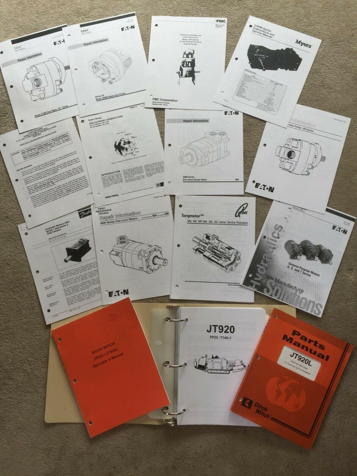 Ditch Witch 1030 Parts Breakdown Ditch Witch Jt920l Repair Service Parts Manuals Literature Of Ditch Witch 1030 Parts Breakdown