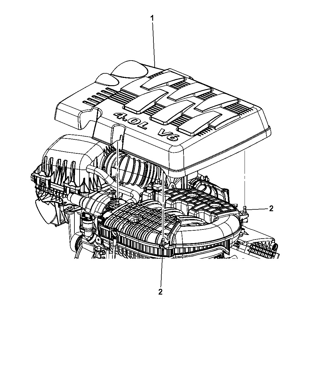 Engine Diagram On A 2010 Chrysler town and Country 3.8lt Ab Genuine Chrysler Cover Engine Of Engine Diagram On A 2010 Chrysler town and Country 3.8lt