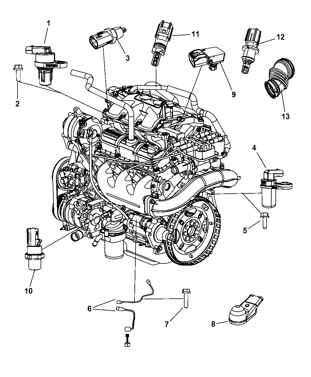 Engine Diagram On A 2010 Chrysler town and Country 3.8lt Ad Genuine Dodge Sensor Of Engine Diagram On A 2010 Chrysler town and Country 3.8lt