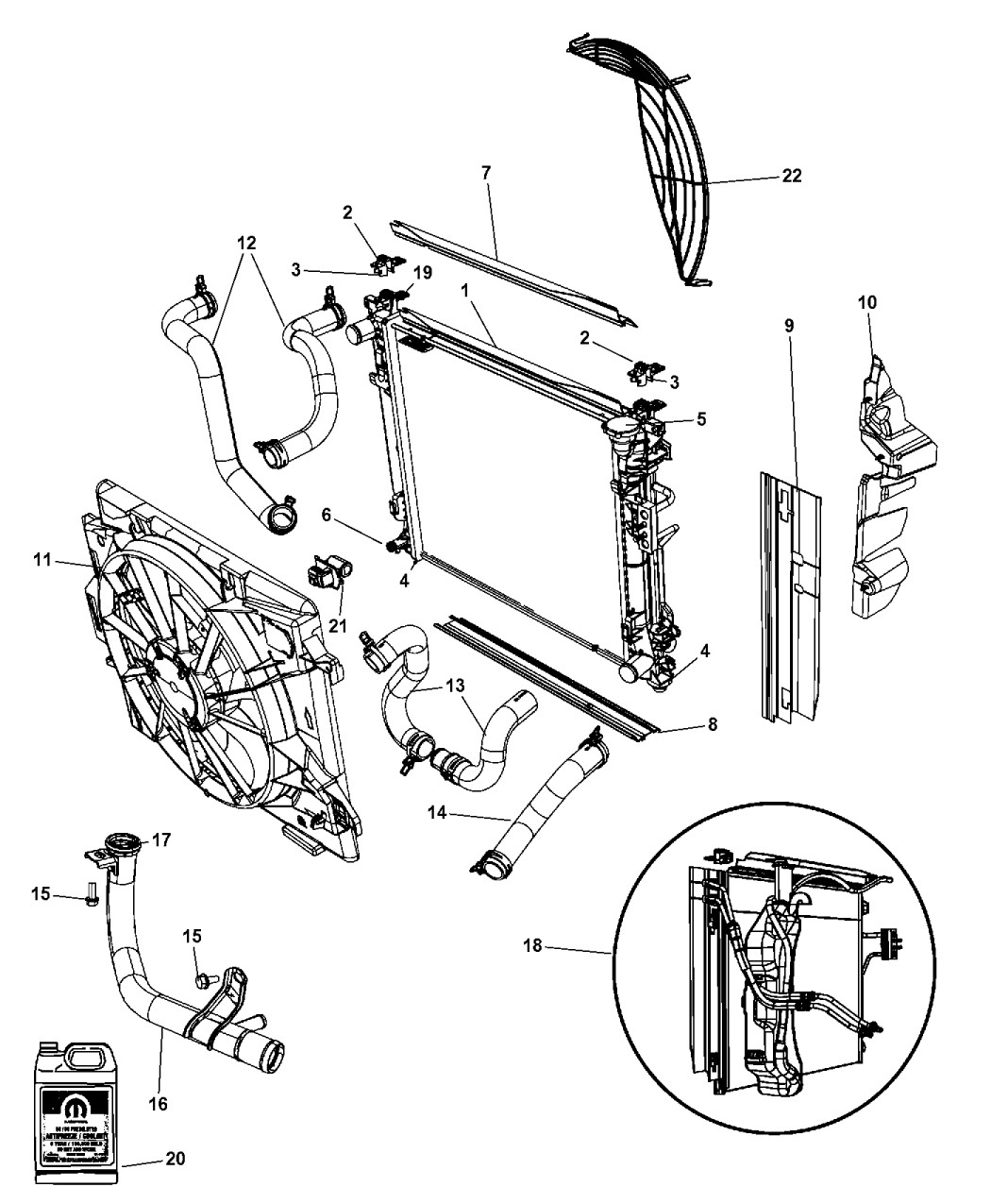 Engine Diagram On A 2010 Chrysler town and Country 3.8lt Ad Genuine Mopar Radiator Engine Cooling Of Engine Diagram On A 2010 Chrysler town and Country 3.8lt