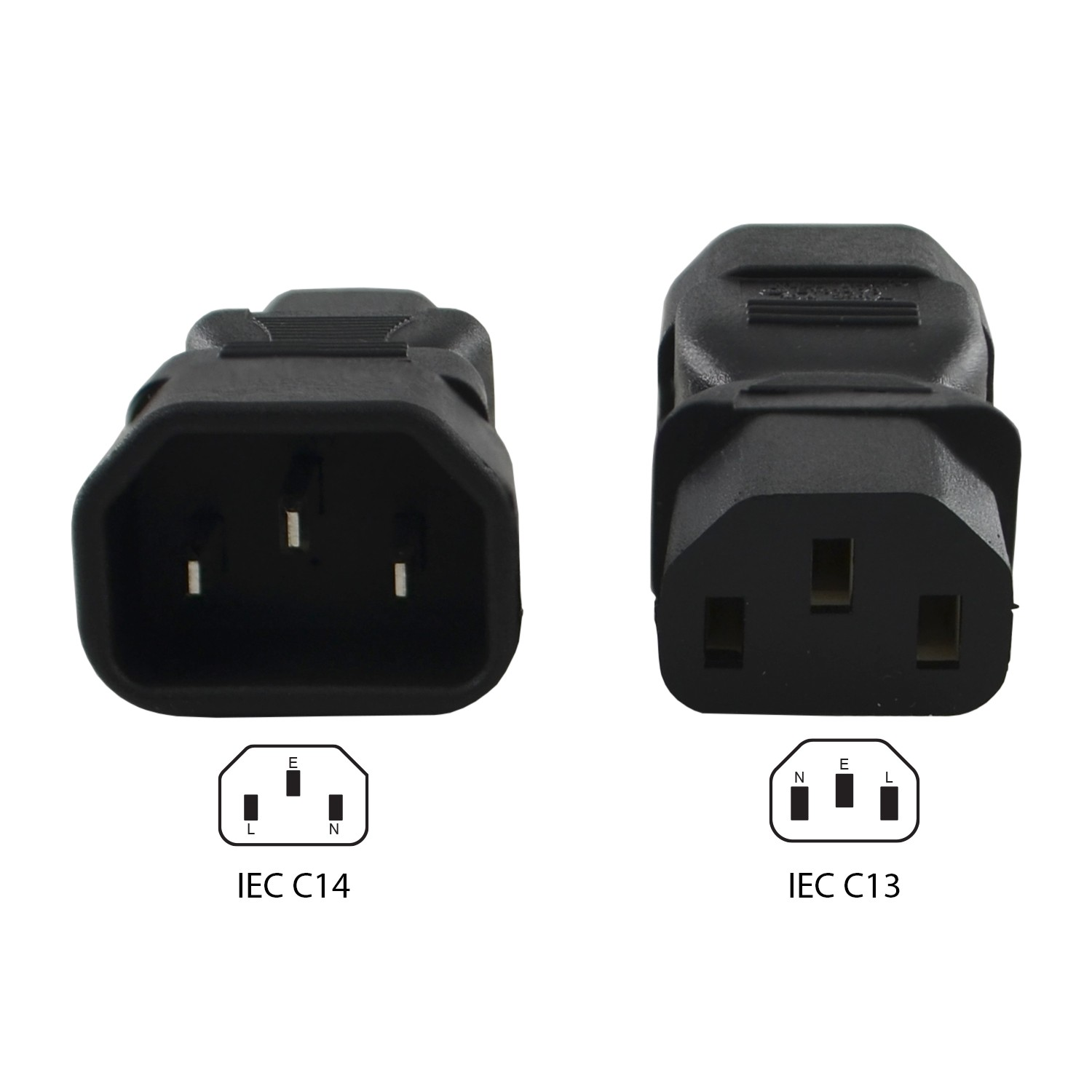 Iec C14 Inlet Pinout C14 to C13 Plug Adapter Of Iec C14 Inlet Pinout