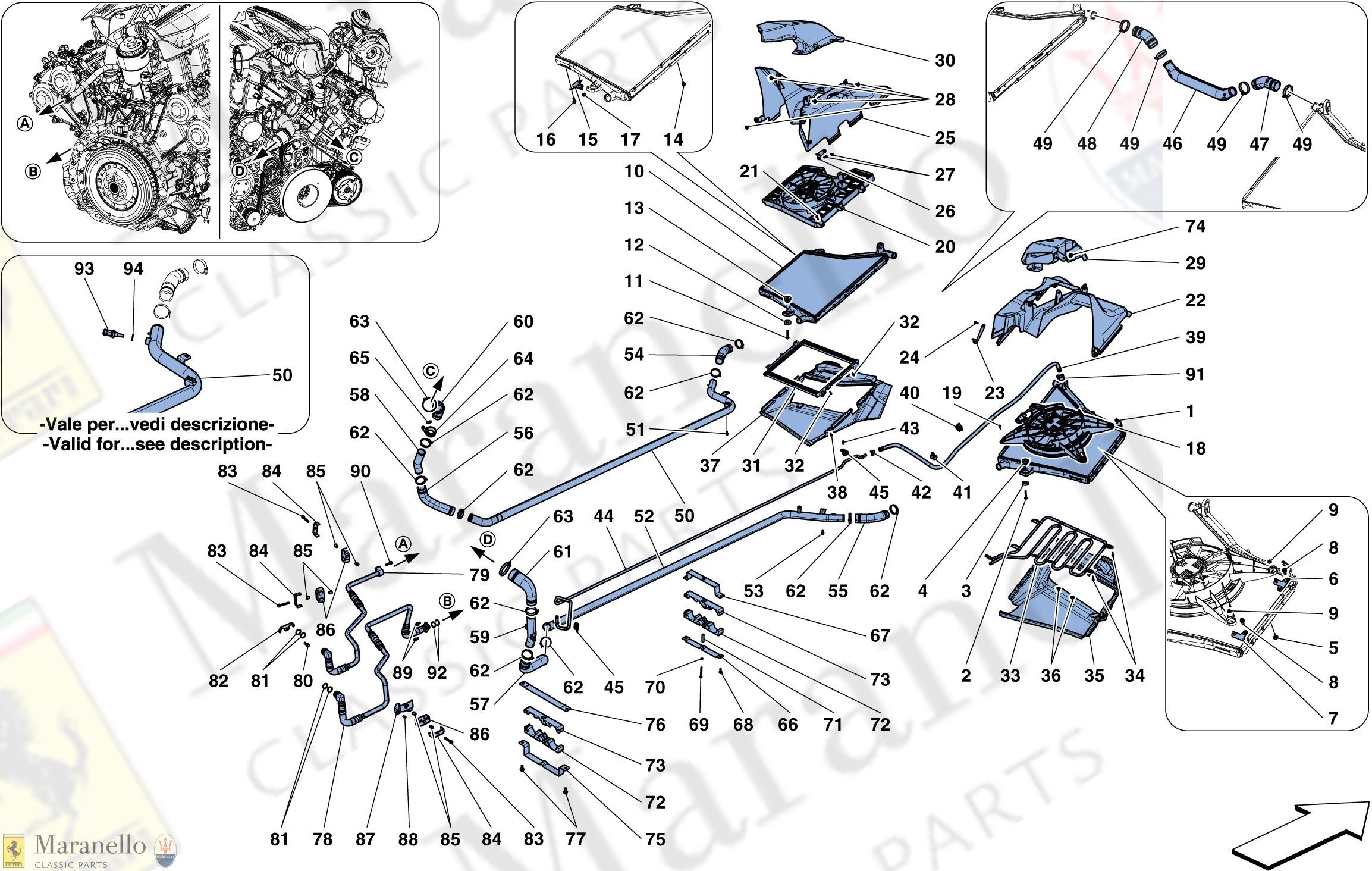 Radiator Parts Diagram 025 Cooling Radiators and Air Ducts Parts Diagram for Of Radiator Parts Diagram