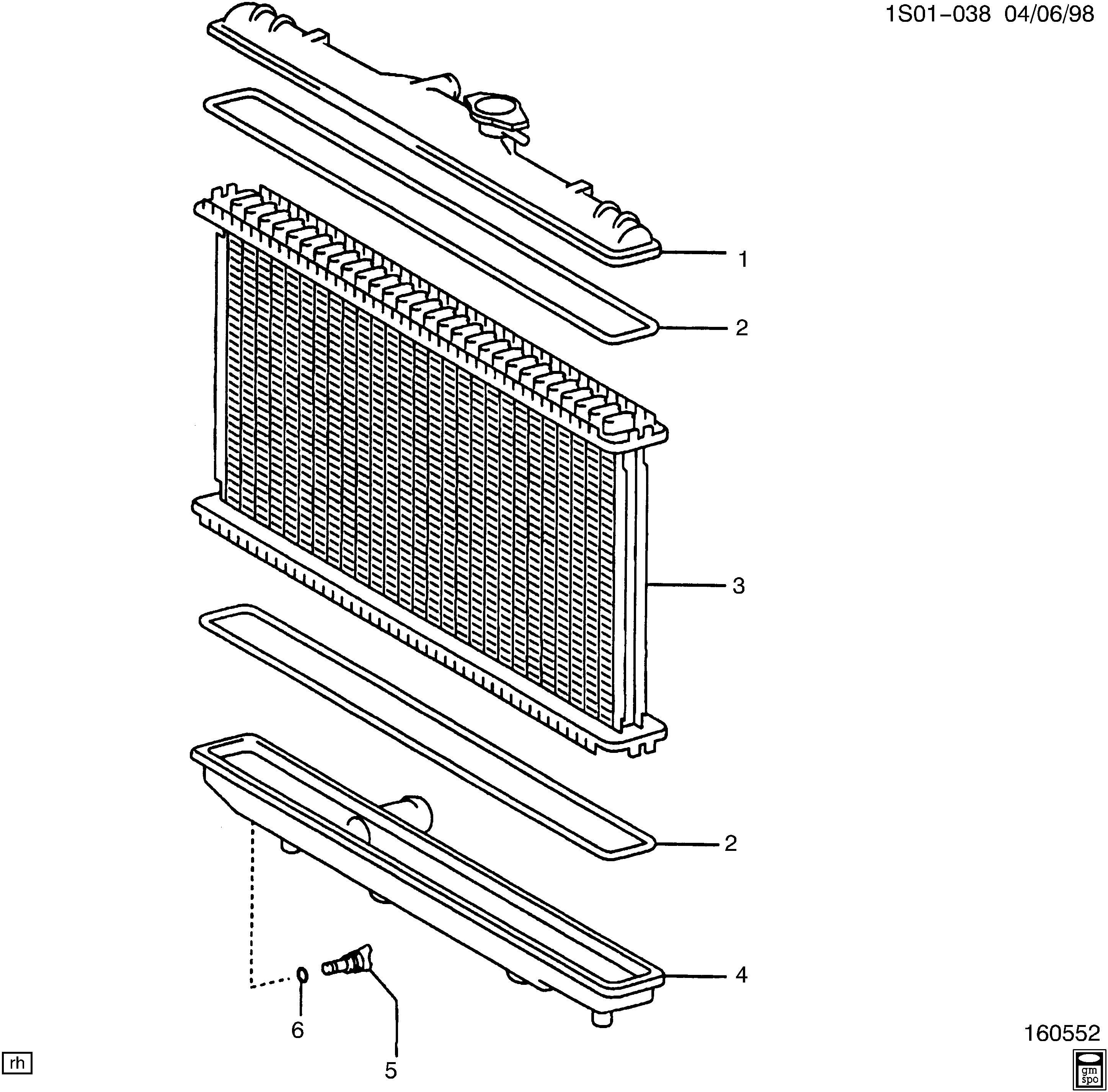 Radiator Parts Diagram Geo Prizm Radiator Details Chevrolet Epc Line Nemiga Of Radiator Parts Diagram