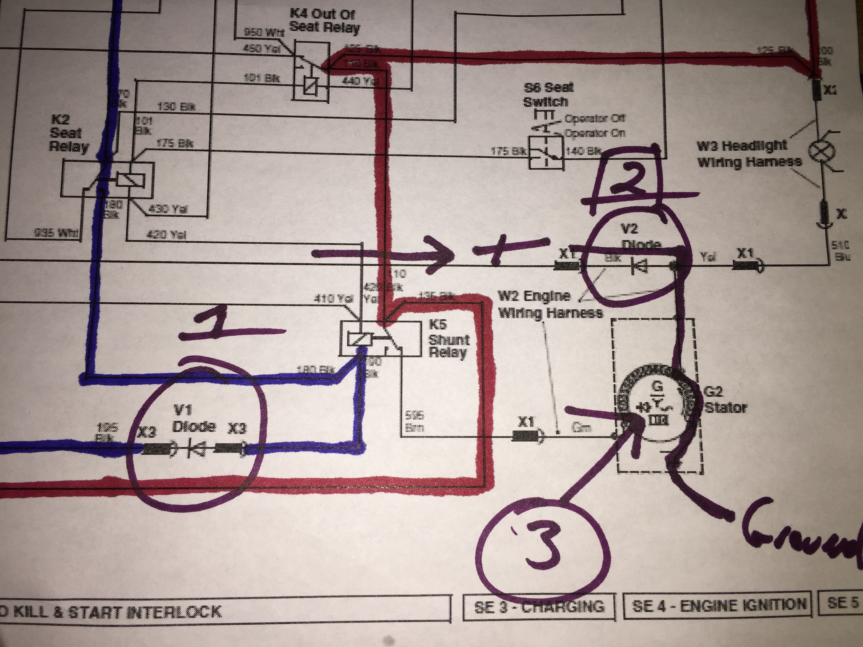 Wireing Diagram for John Deere 318 Stater Motor Lt155 Electrical issue Help Page 2 Of Wireing Diagram for John Deere 318 Stater Motor