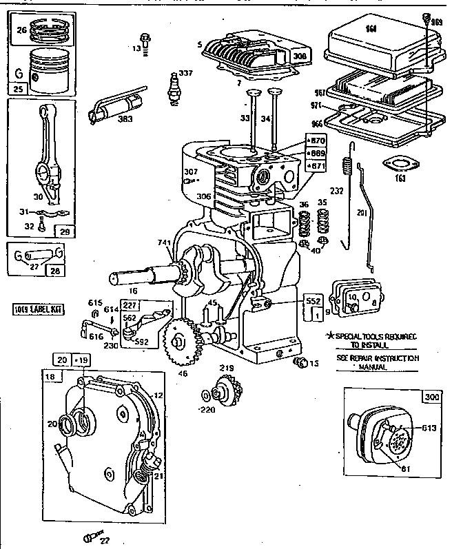Briggs & Stratton Engine Parts and Diagrams Parts Diagram for Briggs & Stratton Engine Of Briggs & Stratton Engine Parts and Diagrams
