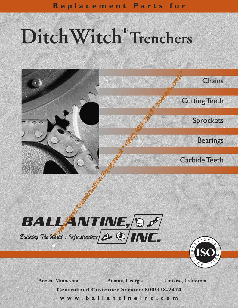 Replacement Parts For DitchWitch Trenchers