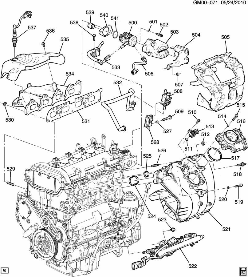 Ecotec 2.4 Engine Parts Diagram Engine asm 2 4l L4 Part 5 Manifolds & Fuel Related Parts Of Ecotec 2.4 Engine Parts Diagram
