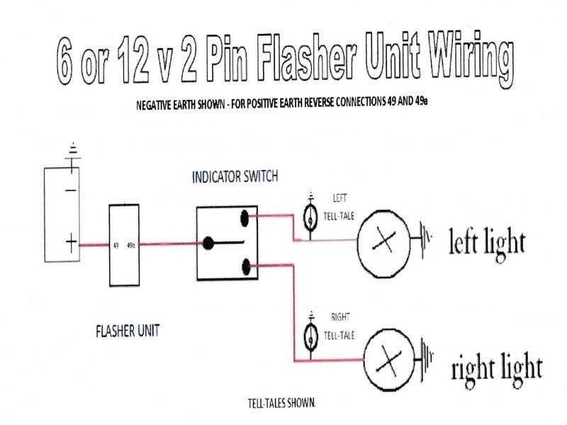 How to Wire A 2 Pin Flasher to 6 Volt Light Three Prong 6 Volt Turn Signal Flasher Wiring Diagram Wiring forums