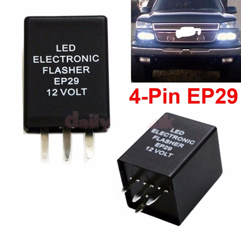 Use A 4 Pin Flasher Relay On A 2 Pin Aliexpress Buy 2pcs 4 Pin Ep29 Led Flasher Decoder 4 Pins Electronic Relay Car Fix Led Smd Of Use A 4 Pin Flasher Relay On A 2 Pin