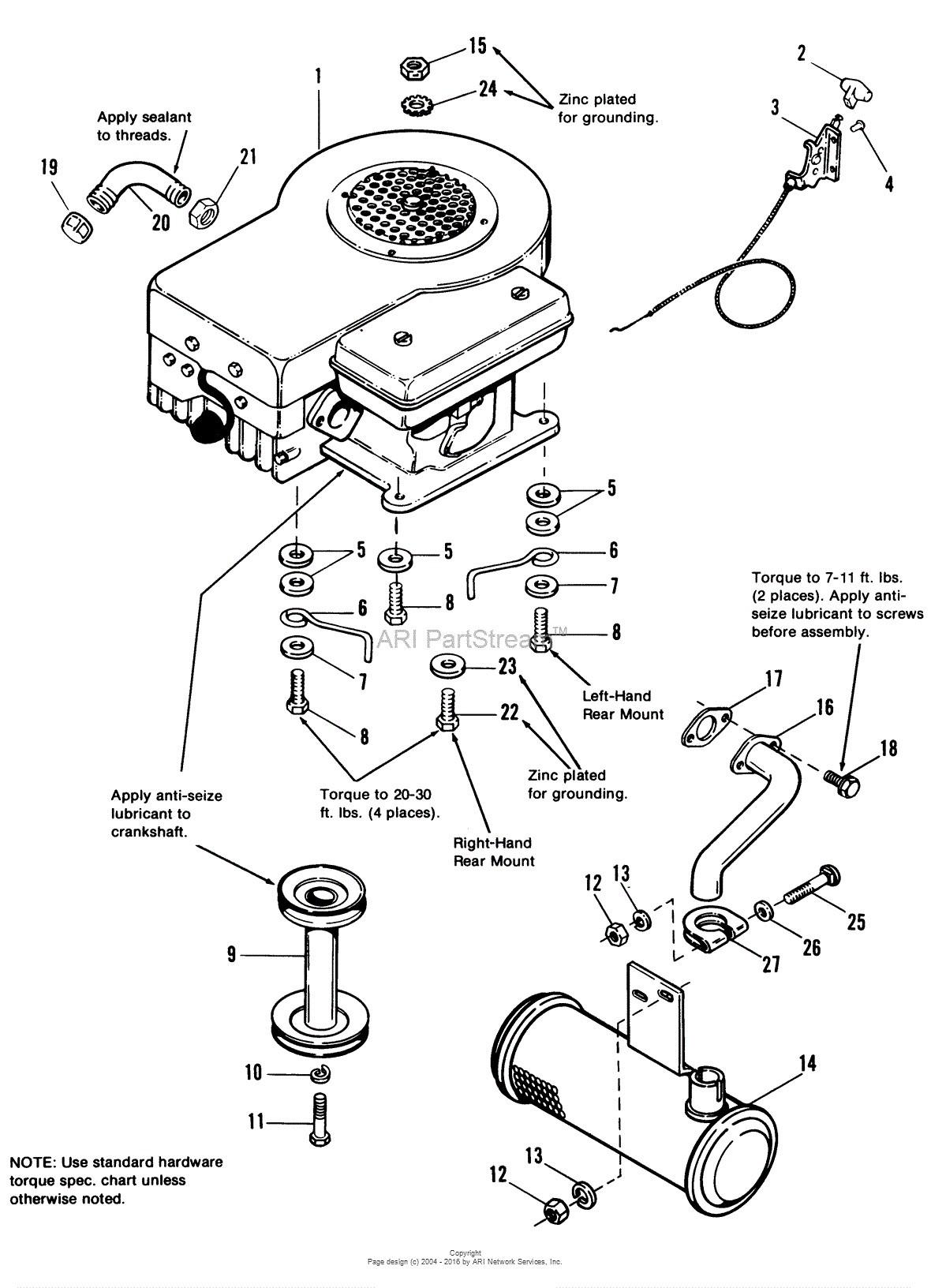 17.5 Briggs and Stratton Engine Part Diagram Briggs and Stratton 17 5 Hp Engine Diagram