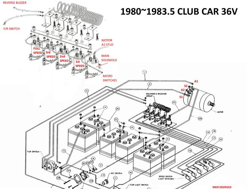 1988 Club Car Direction Control Switch Wiring Scmatic 1988 Club Car Wiring Diagram General Wiring Diagram