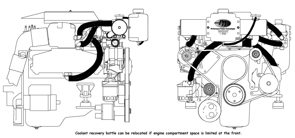 4.3 Mercruiser Cooling System Diagram Mercruiser Closed Cooling System 1997 2002 Small V8 Carb & Efi Engines with Serp Belt Of 4.3 Mercruiser Cooling System Diagram