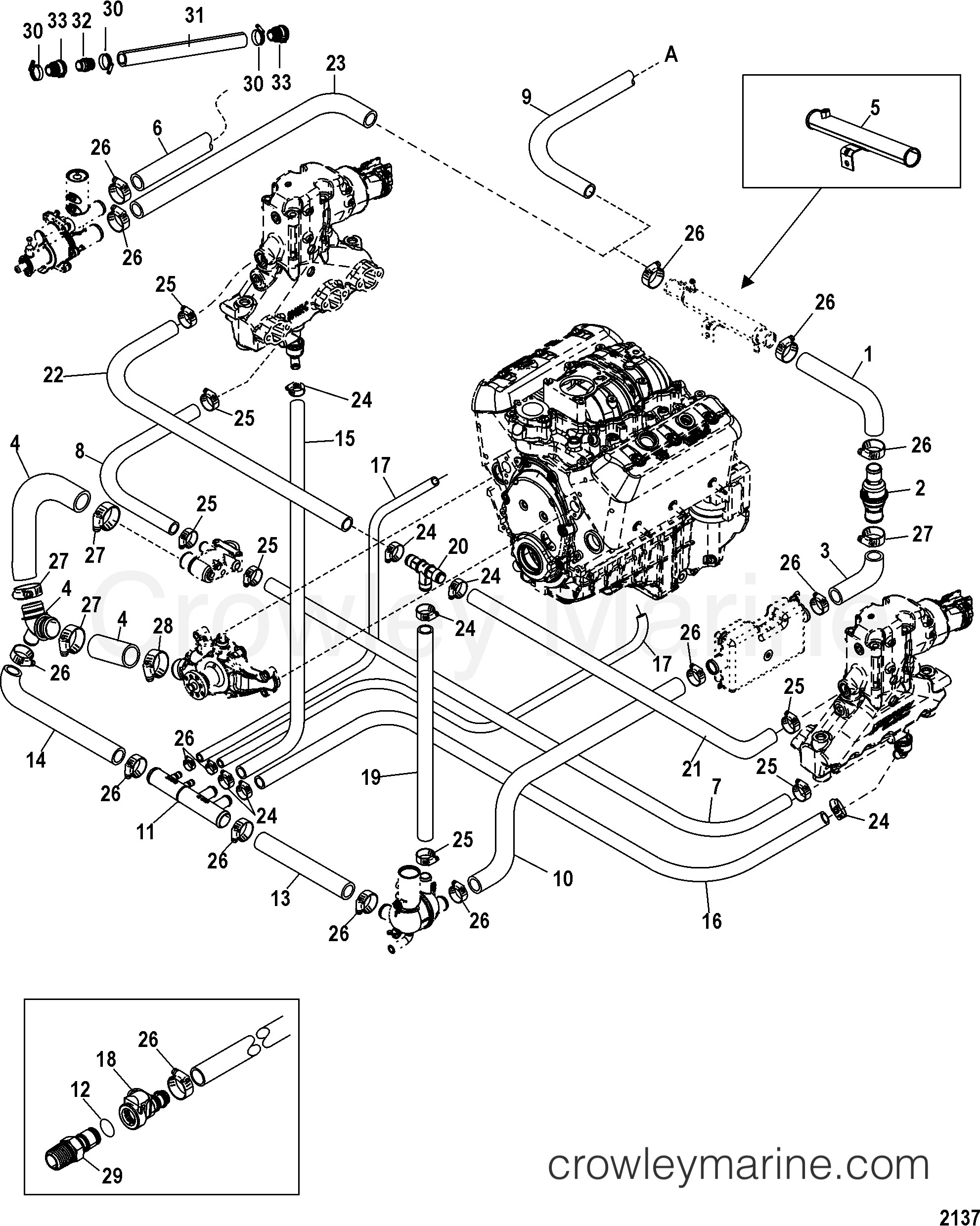 4.3 Mercruiser Cooling System Diagram Standard Cooling System Single and Three Point Drain 1998 Mercruiser 4 3l [alpha Mpi