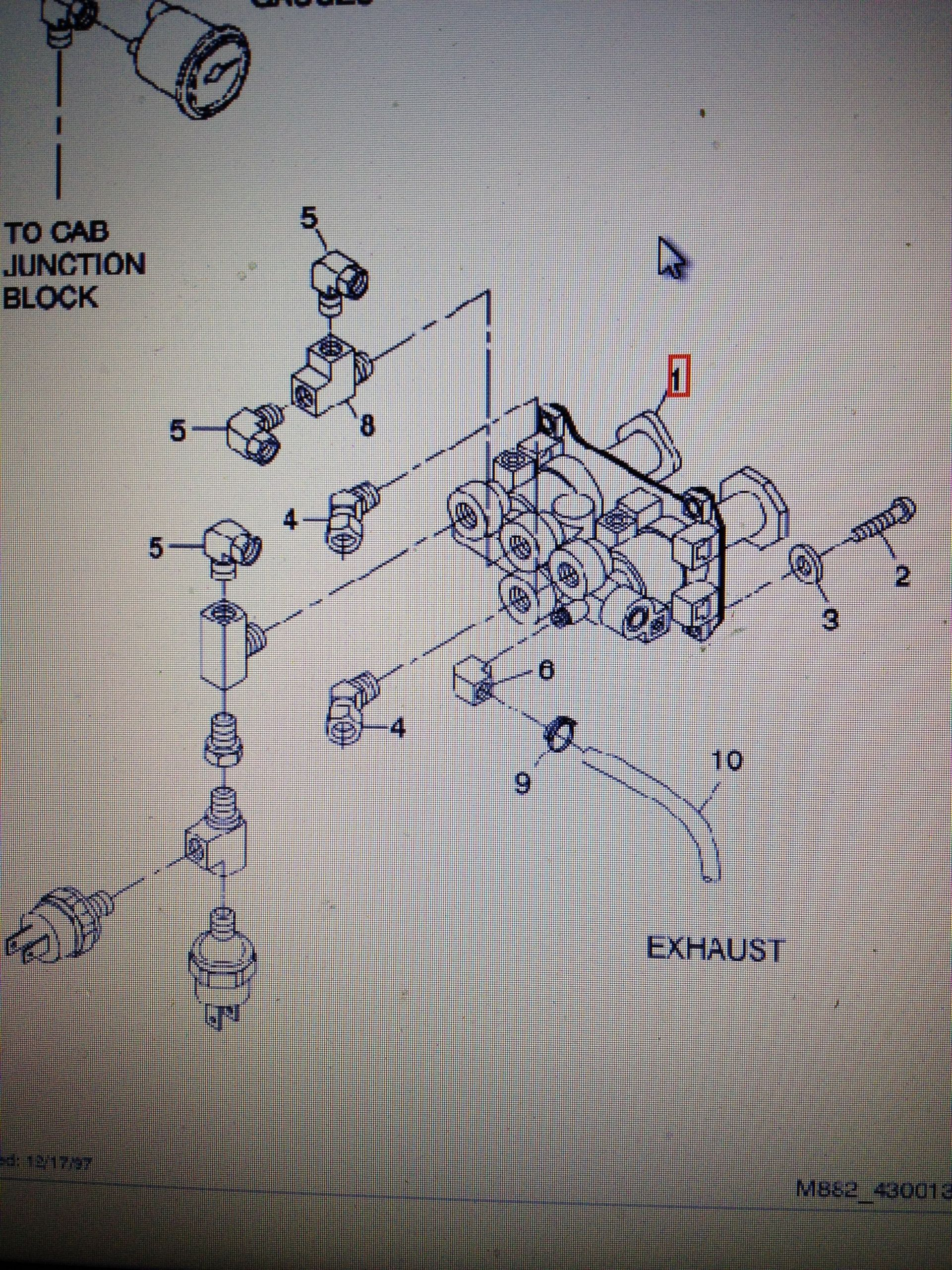 Air Line Diagram 2000 Freightliner Truck I Have A 2000 Freightliner Fld120 Classic Xl I Just Replaced the Dash Safety Control Valve S Of Air Line Diagram 2000 Freightliner Truck