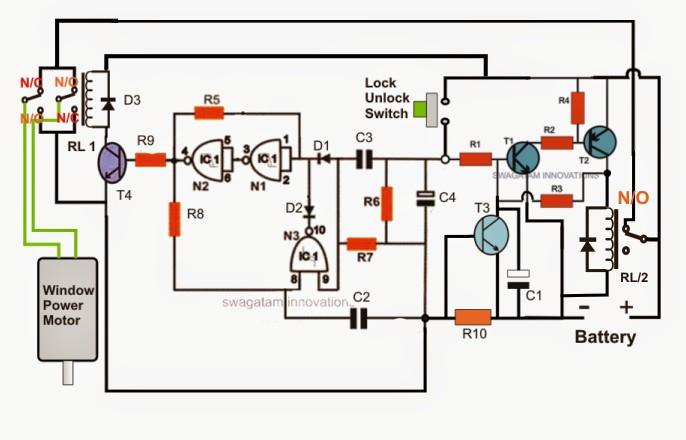Car Window Closer Circuit How to Build A Car Power Window Controller Circuit Part 1 Of Car Window Closer Circuit