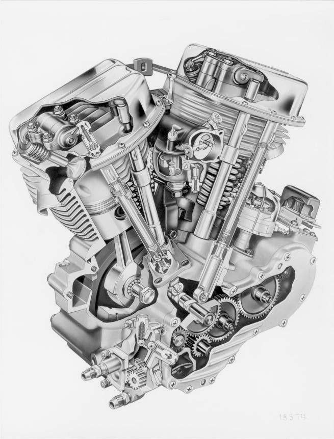 Diagram Of 1980 Bottom End Of Engine Harley Davidson Harley Davidson Big Twins – the Panhead Of Diagram Of 1980 Bottom End Of Engine Harley Davidson