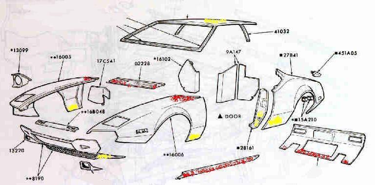 Diagram Of Car Body Panels Body Panels Body Panels Car Of Diagram Of Car Body Panels