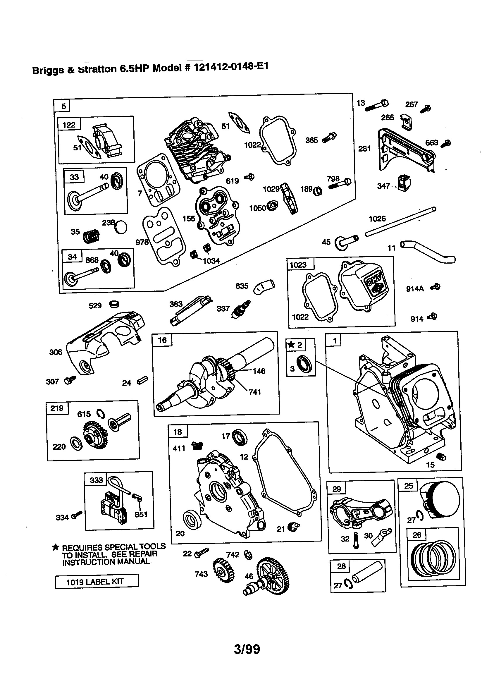 Diagram On Briggs Straton 6.5hp Engine Briggs & Stratton 6 5 Hp Engine Parts Model E1 Of Diagram On Briggs Straton 6.5hp Engine