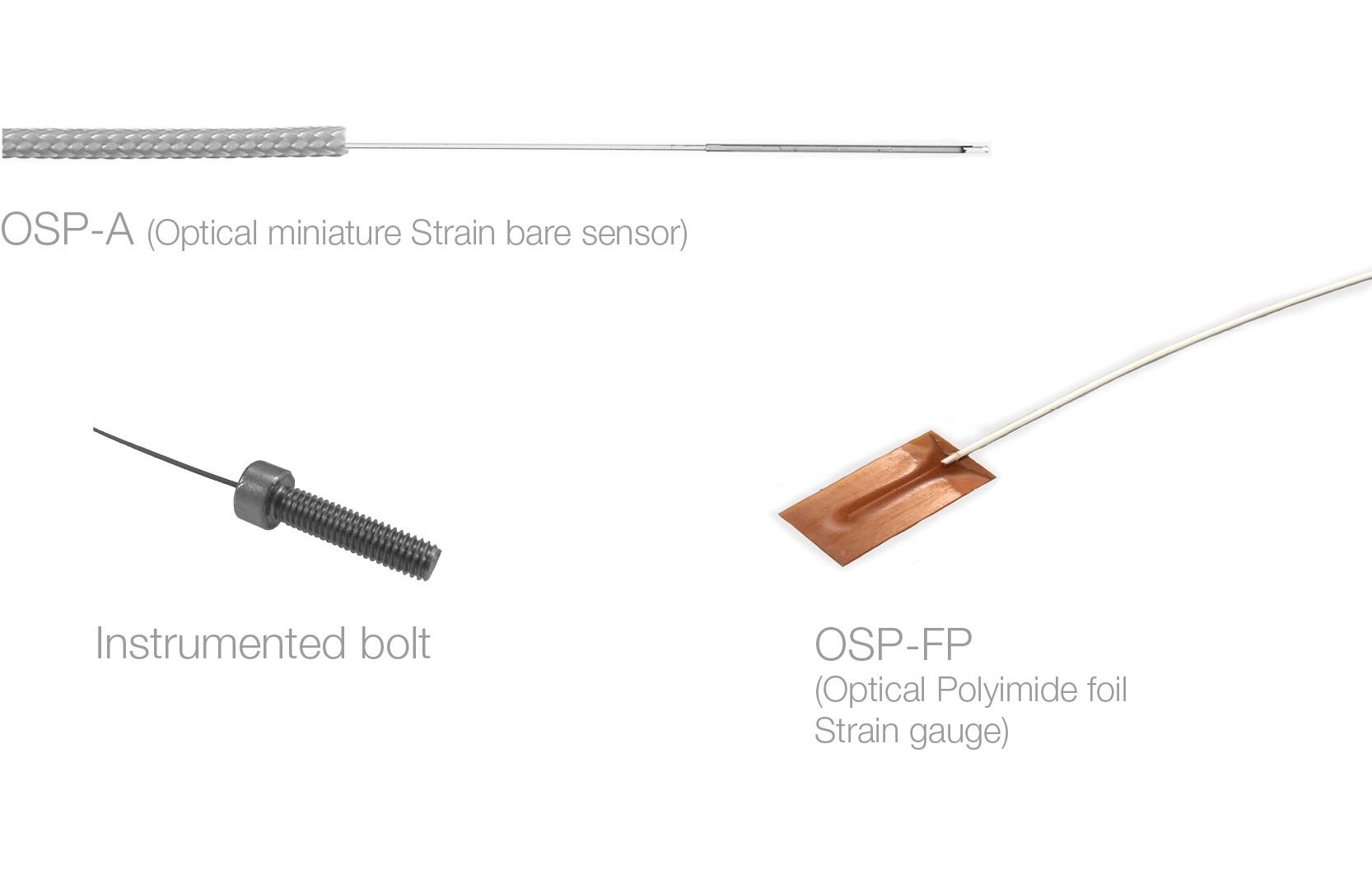 Fiber Optic Strain Sensor Osp A & Osp Fp Fiber Optic Strain Sensor Probe and Transducer Of Fiber Optic Strain Sensor