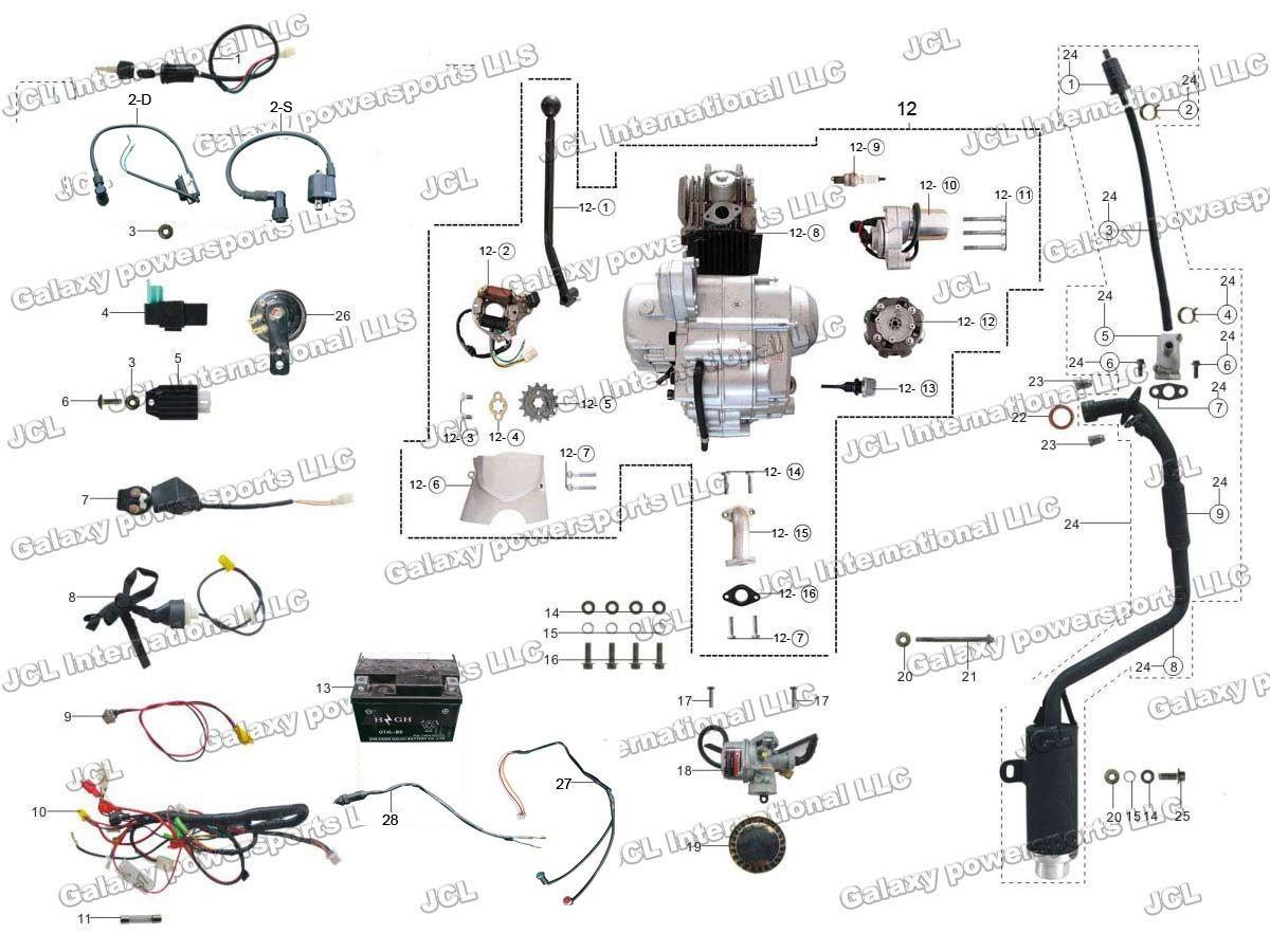 How to Wire Chinese atv Chinese 110 atv Wiring Diagram Collection Of How to Wire Chinese atv