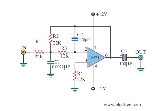 Ic 6110 Schema Ua741 Low Pass Filter Circuit 10khz Of Ic 6110 Schema