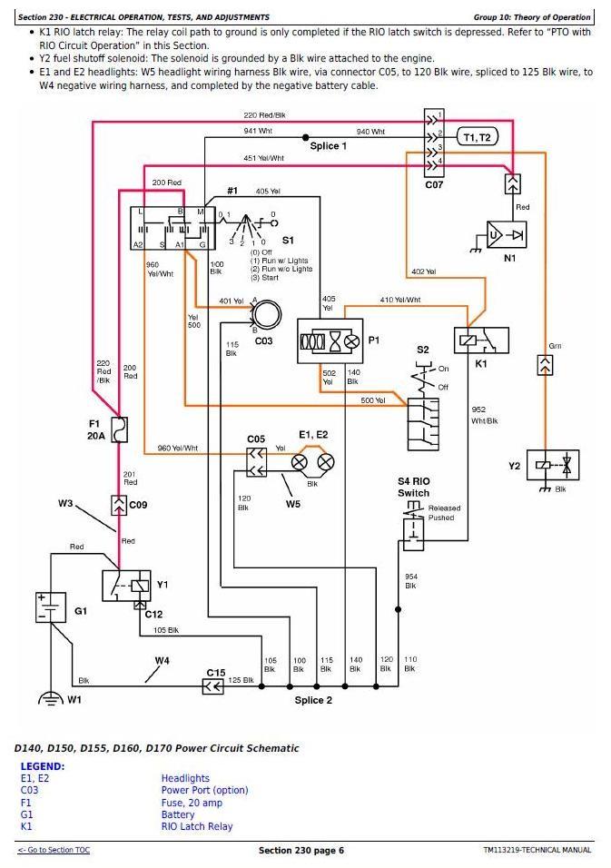John Deere D140 Electrical Schematic Wiring Manual Pdf 105 John Deere Wiring Schematic Of John Deere D140 Electrical Schematic