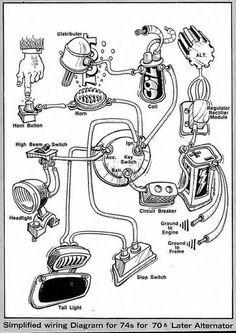 M-unit Harley Shovelhead Wire Diagram Harley Davidson Shovelhead Wiring Diagram Motorcycle Pinterest Of M-unit Harley Shovelhead Wire Diagram