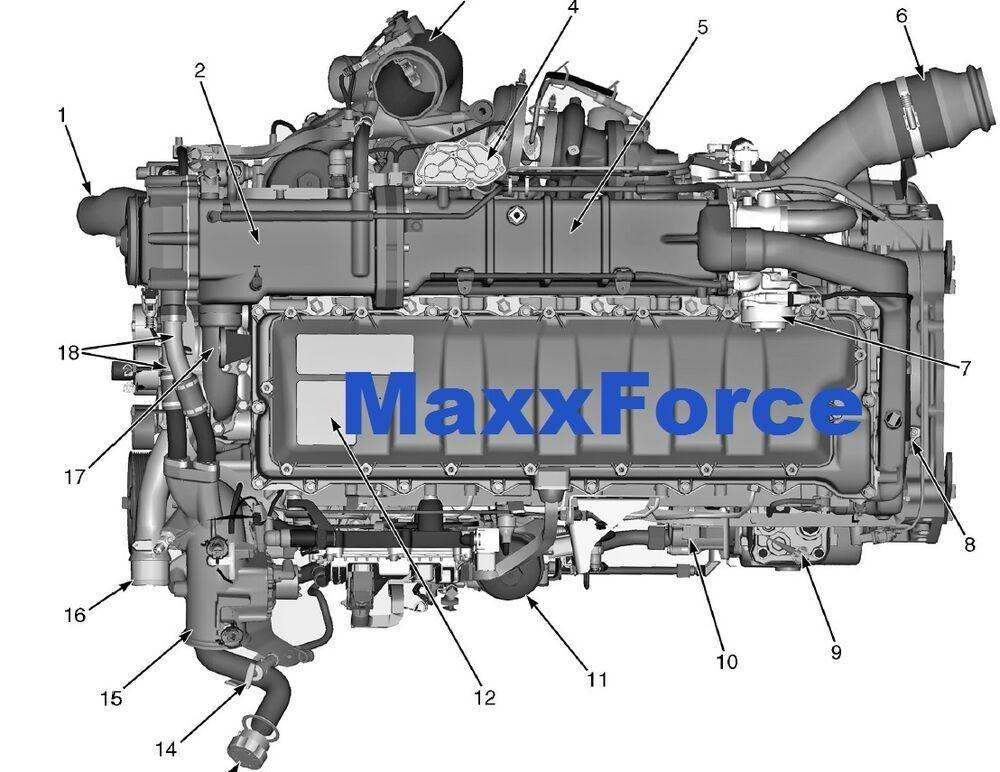 Maxxforce 13 Engine Sensors Location Maxxforce 11 & 13 Epa10 Diesel Engine Service Manual & Epa10 Diagnostic Manual Of Maxxforce 13 Engine Sensors Location