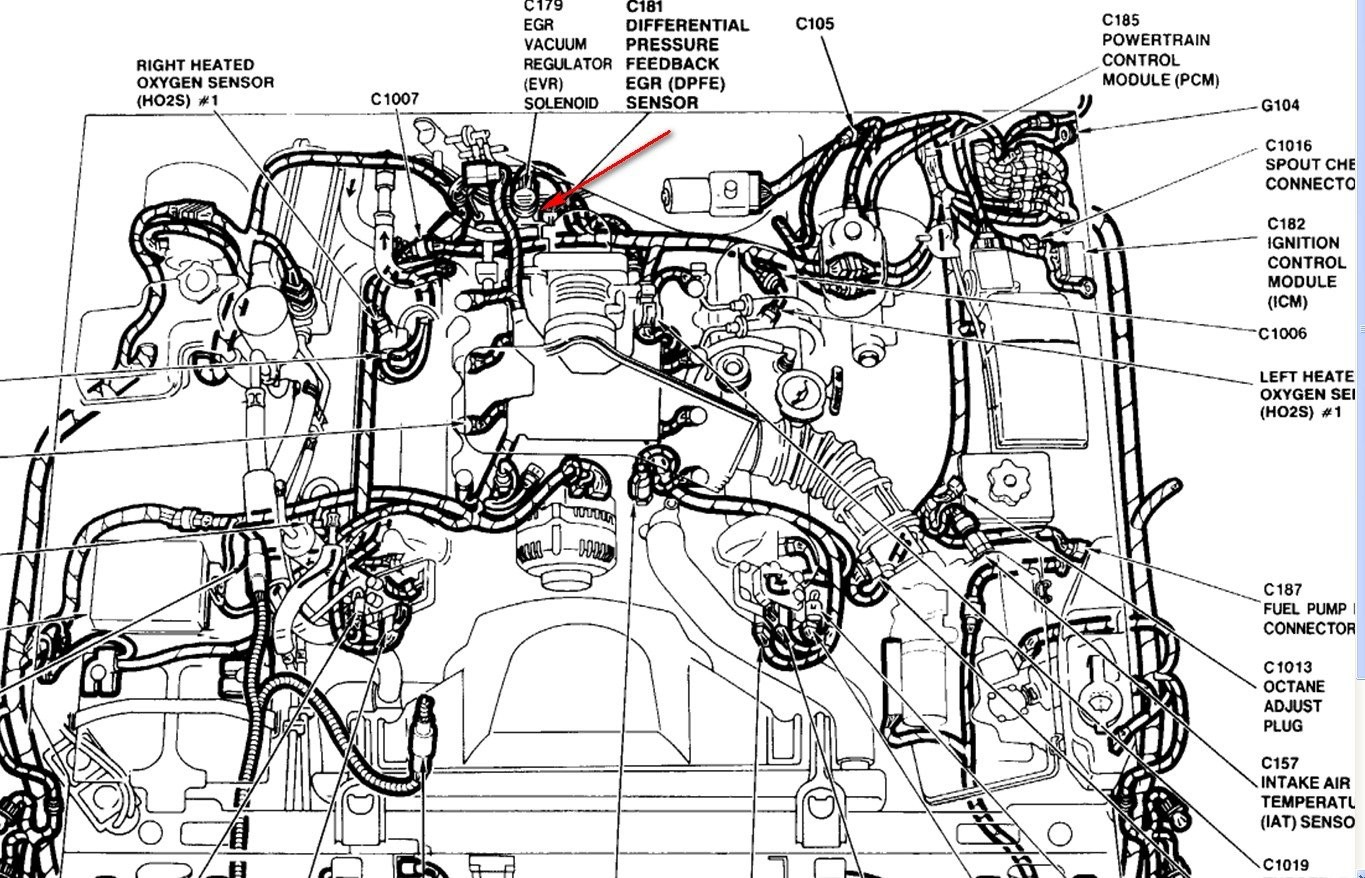 """Parts Breakdown Of Electrical On 2004 4.6 Liter Crown Victoria V8 4 6 1995 Model Have Diagnostic Code """"401"""" Exhaust Gas Recirculation Flow Of Parts Breakdown Of Electrical On 2004 4.6 Liter"""