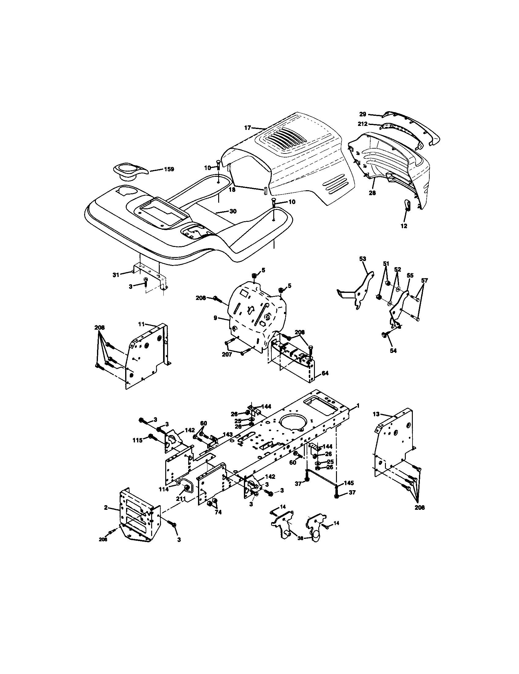 Parts Diagram Craftsman 17.5 Hp Lawn Mower Craftsman Front Engine Lawn Tractor Parts Of Parts Diagram Craftsman 17.5 Hp Lawn Mower