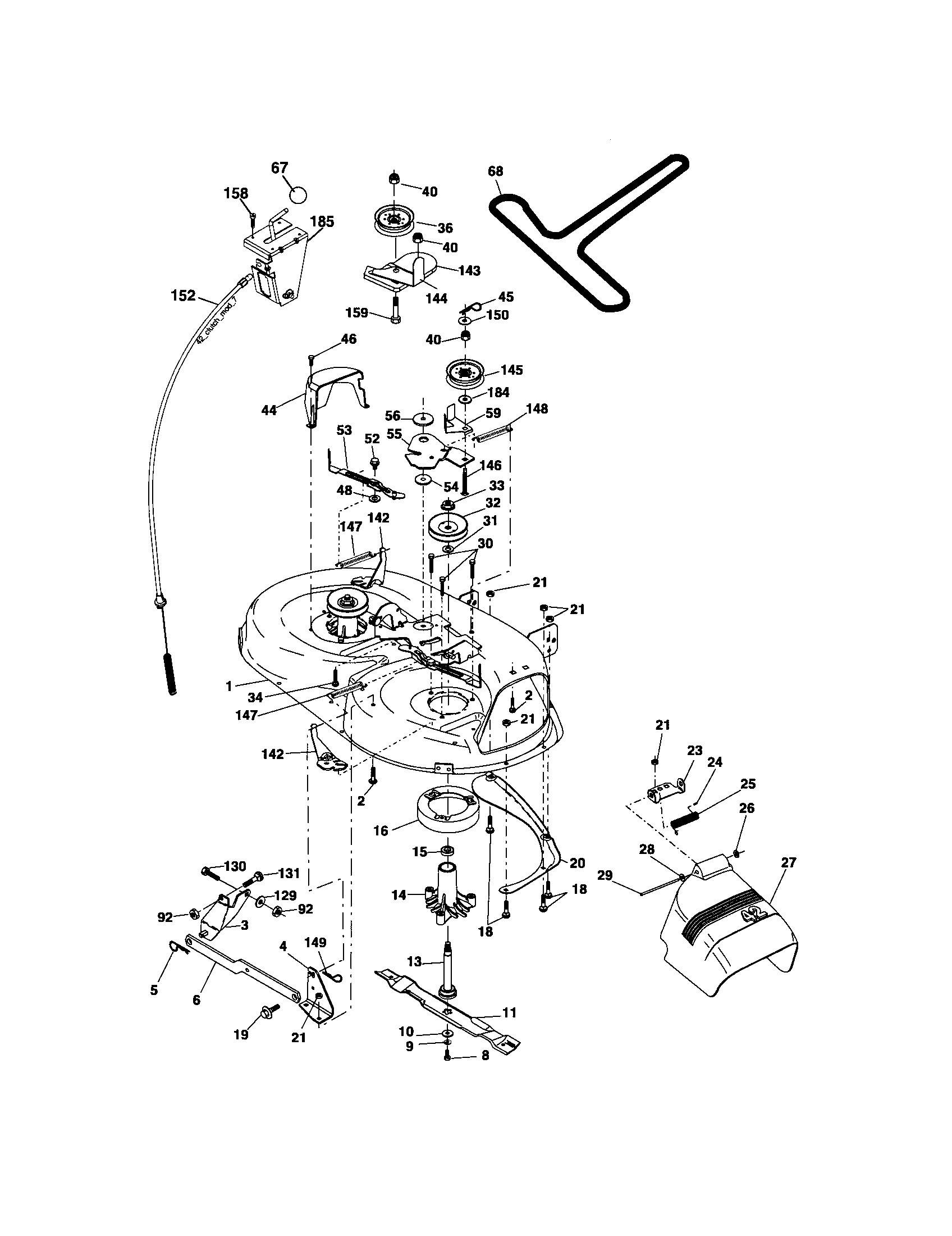 Parts Diagram Craftsman 17.5 Hp Lawn Mower We Have Craftsman 17 5 Hp 42 Inch Mower 6 Speed Transaxle 2006 Model 917 It Only Cuts Of Parts Diagram Craftsman 17.5 Hp Lawn Mower