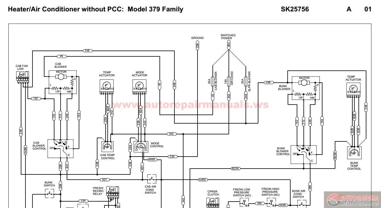 Peterbilt Air Schematics Peterbilt Pb379 Heater Air Conditioner without Pcc Sk Of Peterbilt Air Schematics