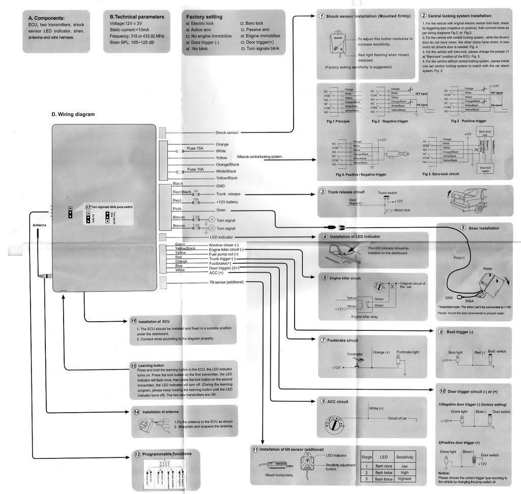 Steelmate Car Alarm 838 Wiring Diagram Car Alarm