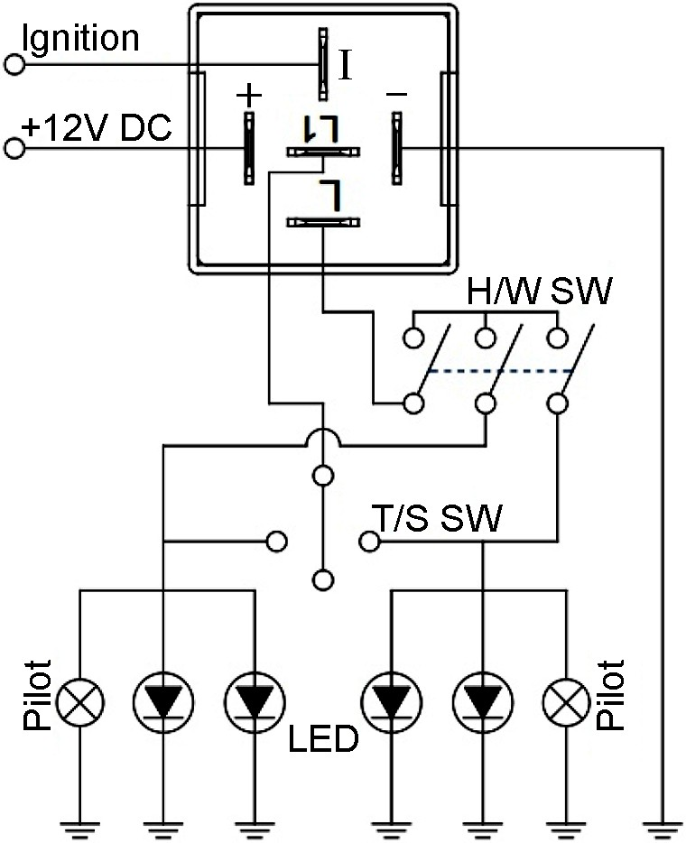 Wiring Circuit for A Two Pin 12volt Flasher Unit Ep27 12v Automotive Hazard Warning & Turn Signal Flasher Of Wiring Circuit for A Two Pin 12volt Flasher Unit